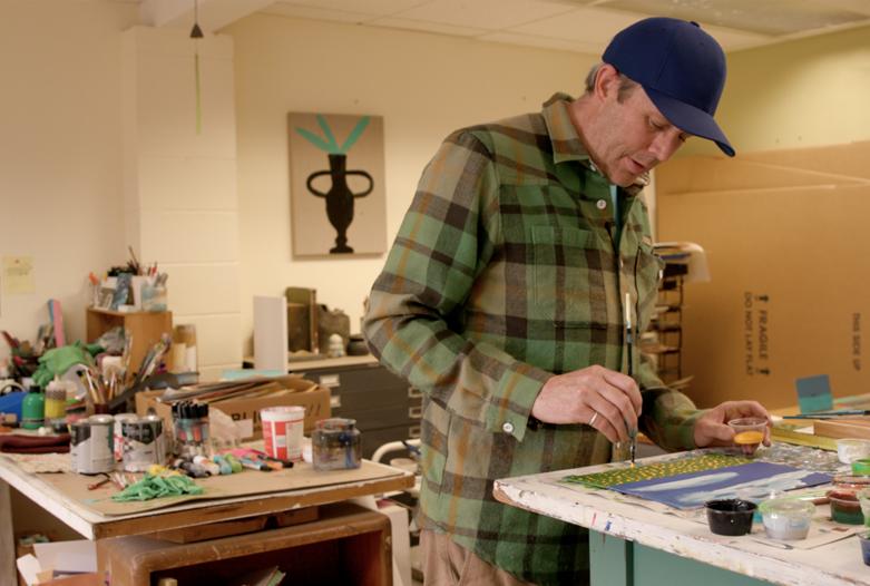 Tucker Nichols in studio