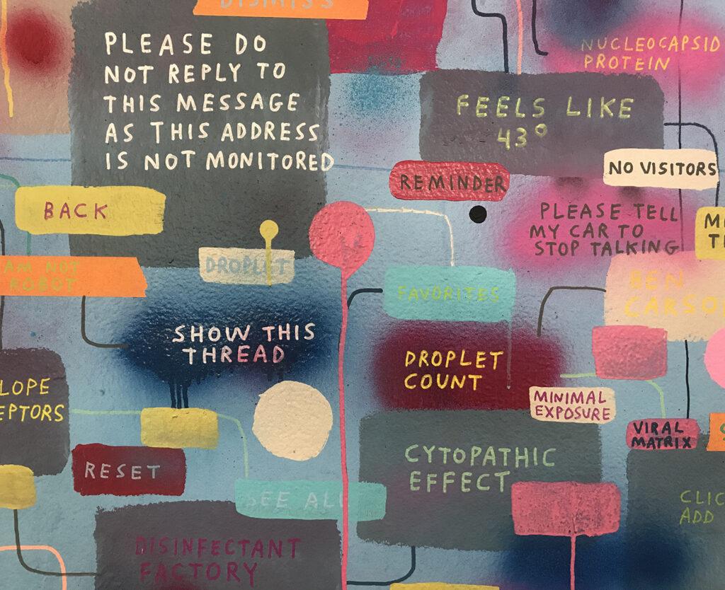 Closeup of a Tucker Nichols mural