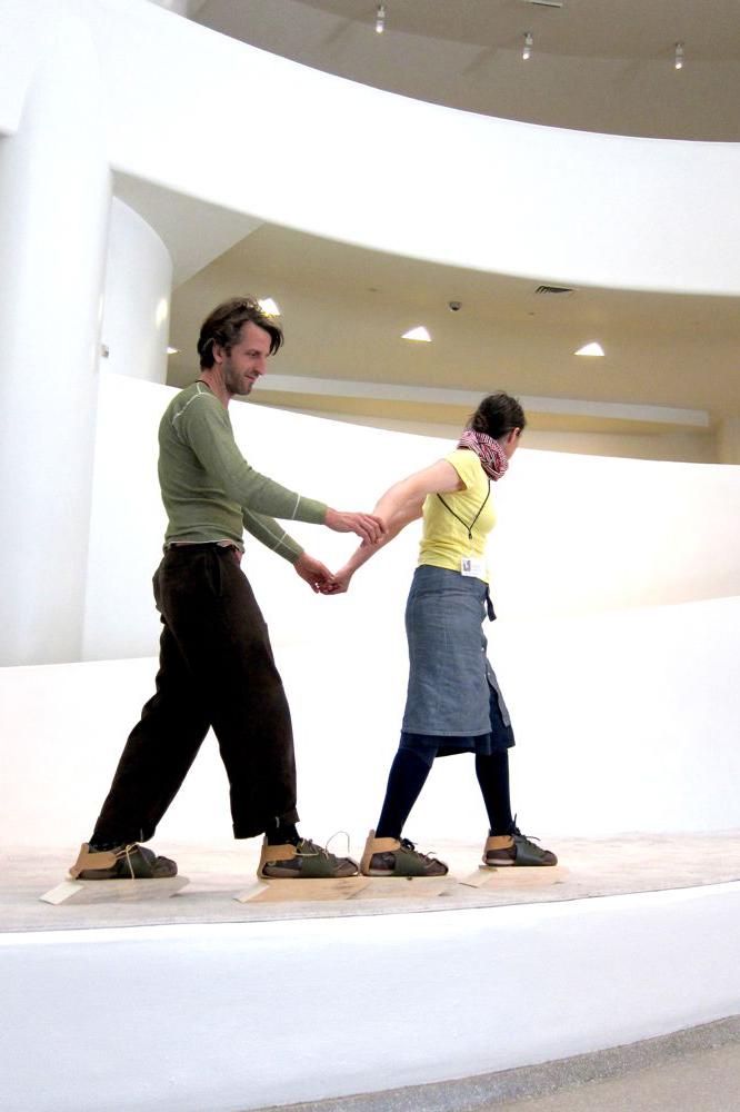 Michael Swaine artwork performance at the Guggenheim